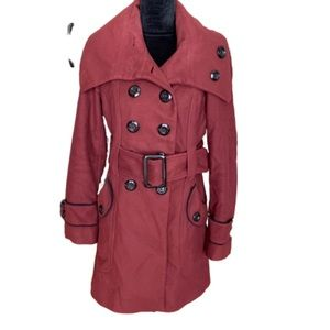 Miss Sixty Burgundy red long peacoat